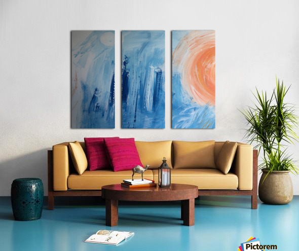 The Twin Sisters. Split Canvas print