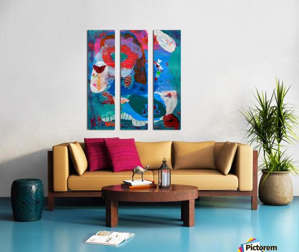 Behind The Blue Fence Split Canvas print