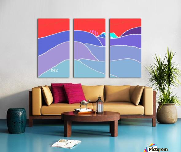 The Zone Split Canvas print