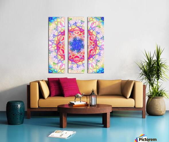 Psychedelic Art Hexagon Mandala Handdrawing Split Canvas print