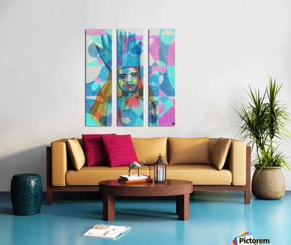 Woman in blue-5 Split Canvas print