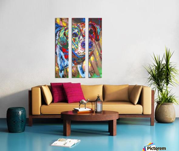 Beagle Split Canvas print