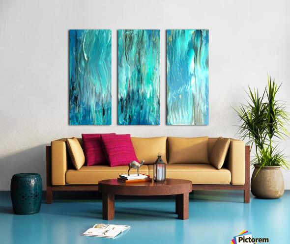 Ocean Ripple Split Canvas print