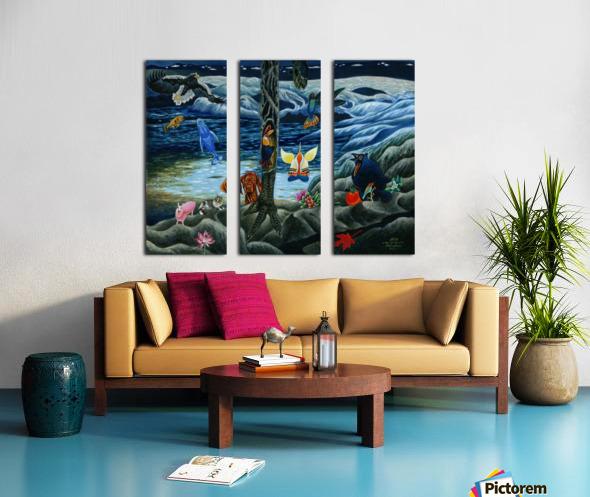 2000 025 Split Canvas print