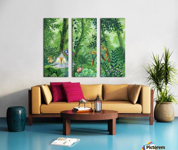 2000 028 Split Canvas print