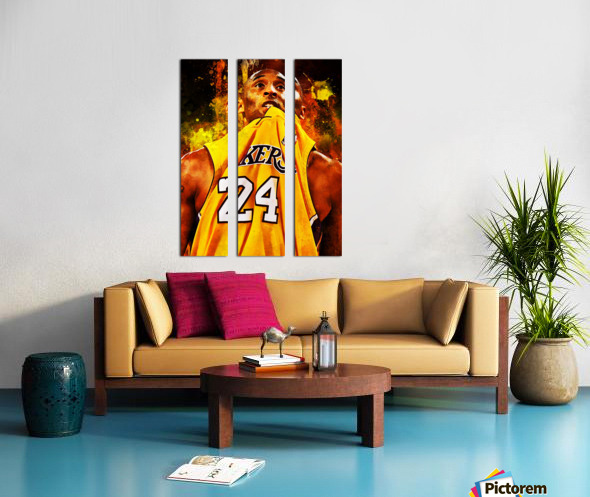 Kobe Bryant Split Canvas print