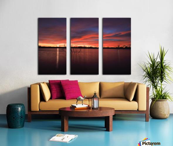 Lake Wellington Sunset Split Canvas print