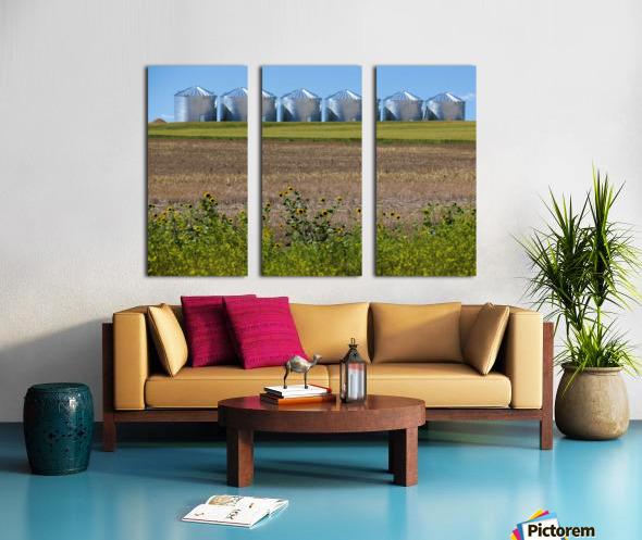 Grain Silos Split Canvas print