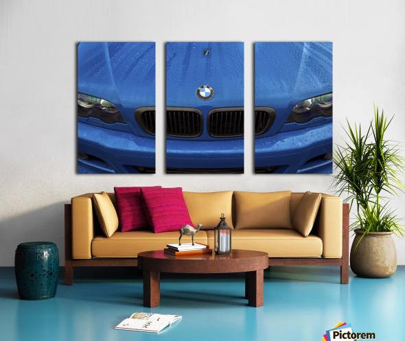 BMW BLU REIGN Split Canvas print