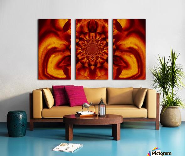 Lotus in Gold Satin Split Canvas print