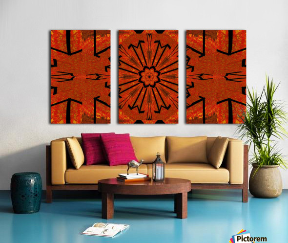 Lotus In Flames 1 Split Canvas print