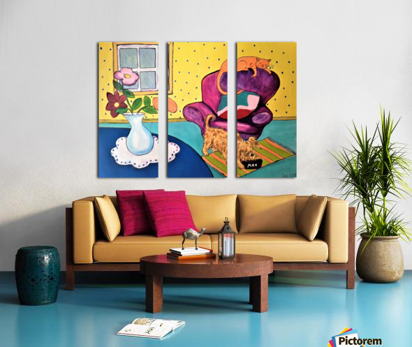 Just Relaxing Split Canvas print