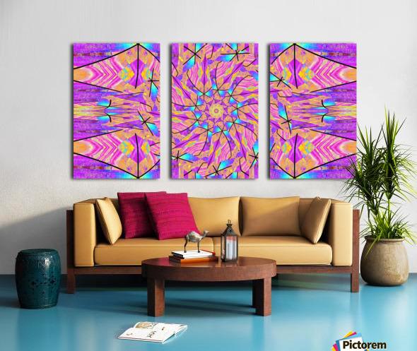Lotus In Glass 2 Split Canvas print