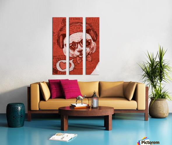 Cool Panda Split Canvas print