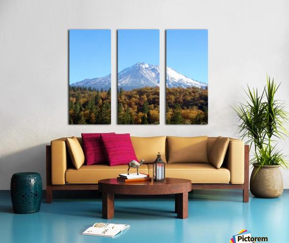 Mt Shasta in Autumn Split Canvas print