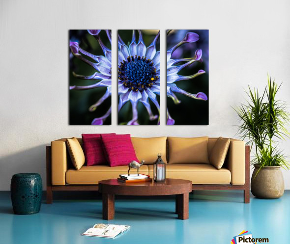 purple alien Split Canvas print