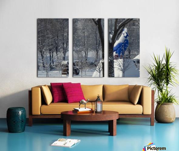 Love Rooster Split Canvas print