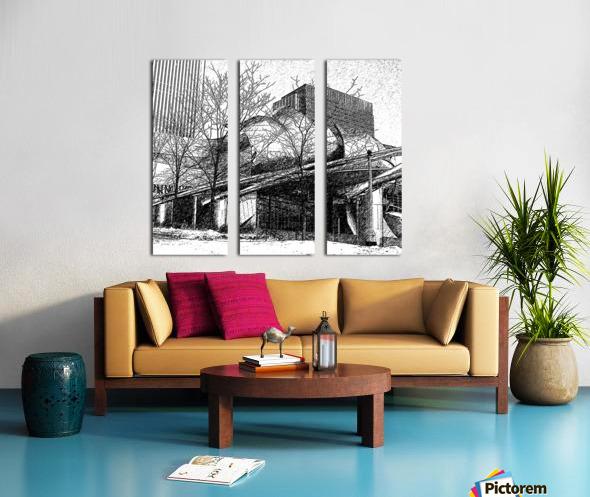 Millenium Park Chicago Split Canvas print