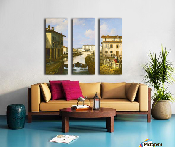 Il Naviglio dal ponte di San Marco Split Canvas print