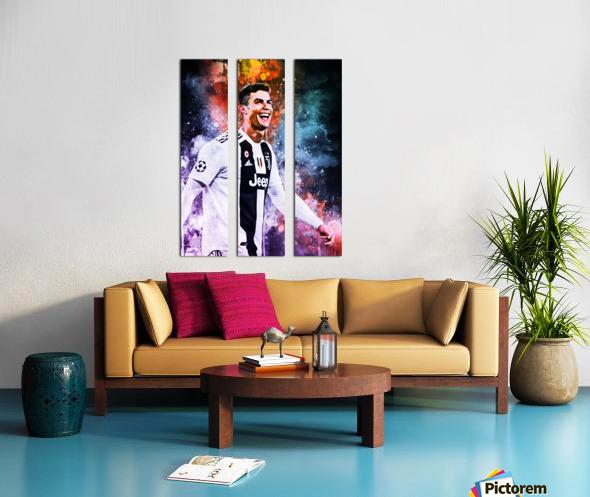 Cristiano Ronaldo Split Canvas print