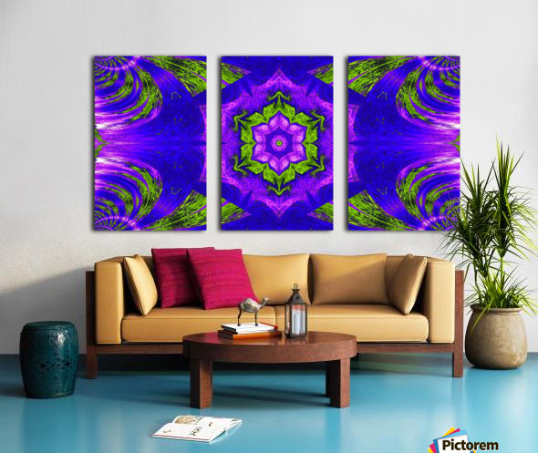 Pink Lotus In Green Split Canvas print