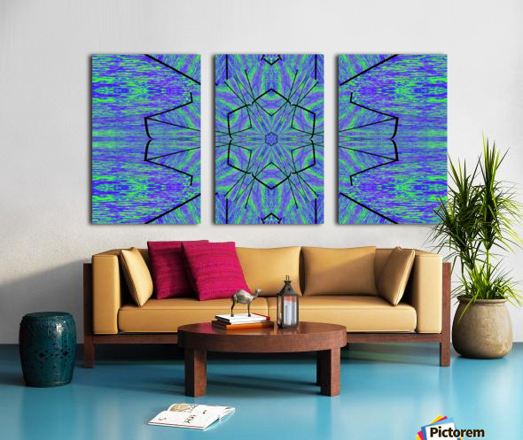 Light Of The Blue Moon Lotus Split Canvas print