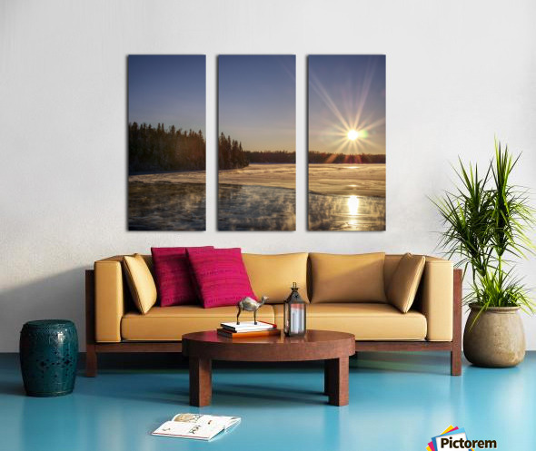 lac Sebastien Split Canvas print