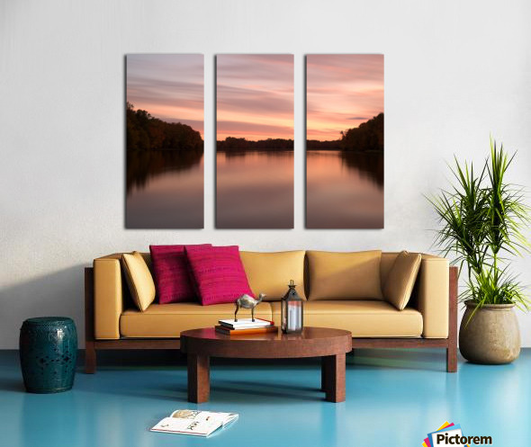 Coucher de soleil Split Canvas print