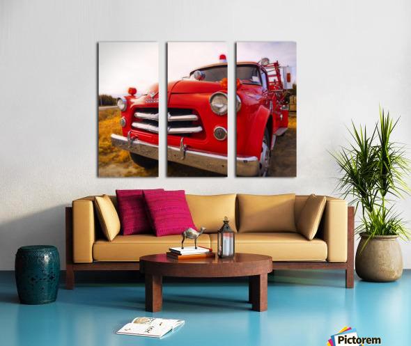 Pompier Split Canvas print
