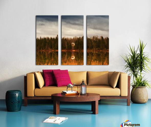 Reflection Split Canvas print