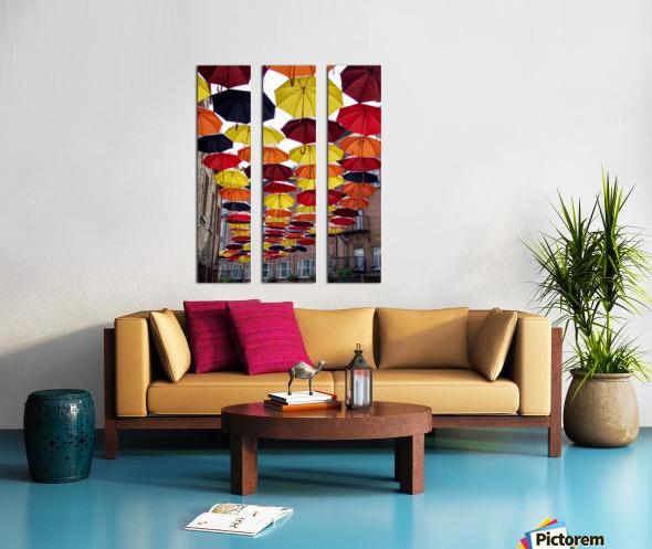 parapluies Split Canvas print