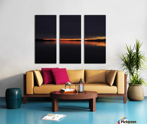 coucher flamboyant Split Canvas print