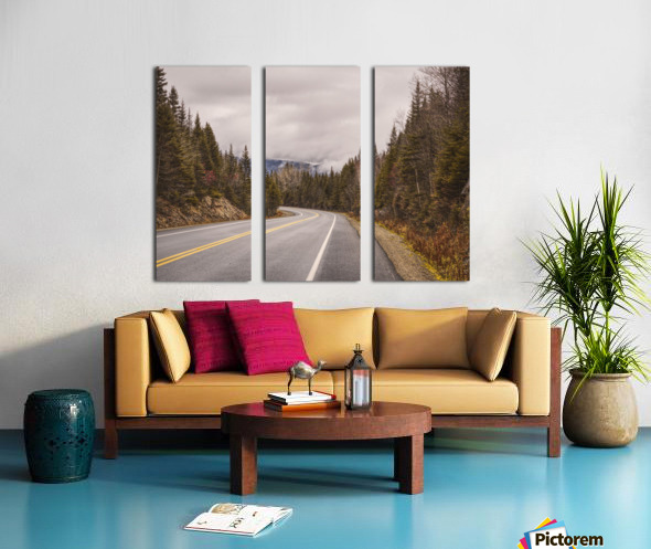 La route Split Canvas print