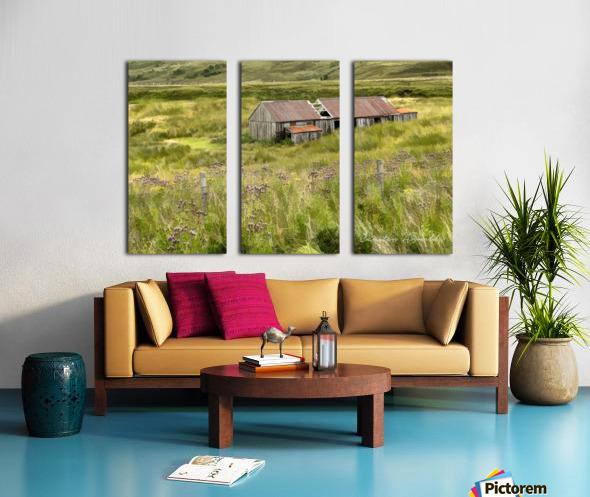 Scottish Highlands Barn Split Canvas print