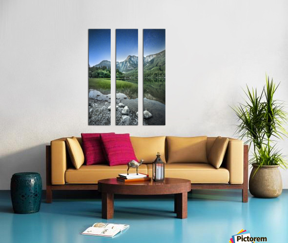 Twilight on the Lake Split Canvas print