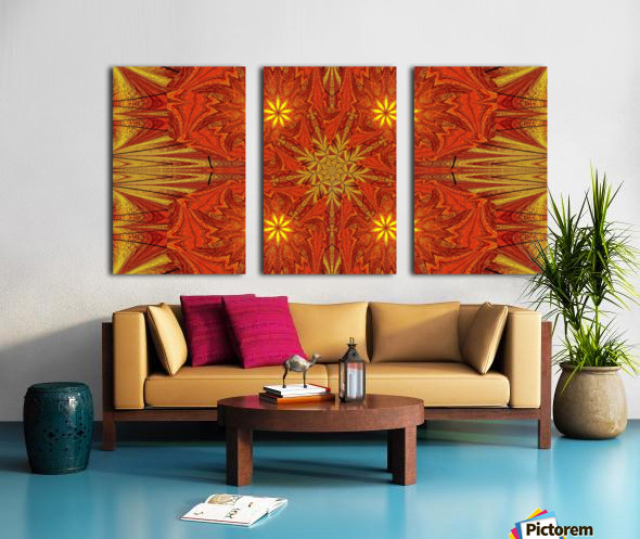 Golden Lotus In Light 4 Split Canvas print