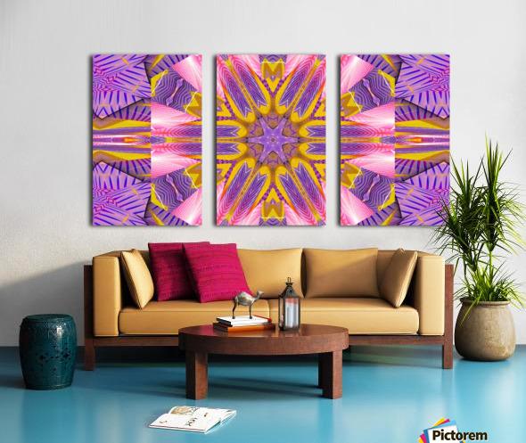 Lotus In The Pink 4 Split Canvas print