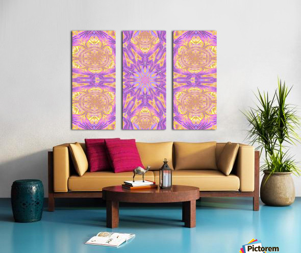 Lotus Of The Sky Of Blue 2 Split Canvas print