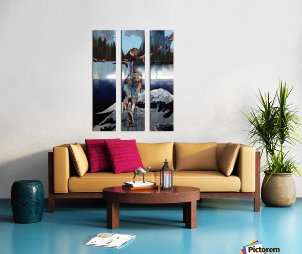 Gone Swimming Split Canvas print