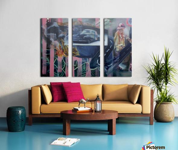 Jungle Petes Tavern Split Canvas print