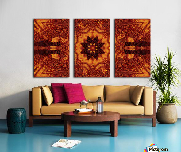 Black And Gold Wildflowers 1 Split Canvas print