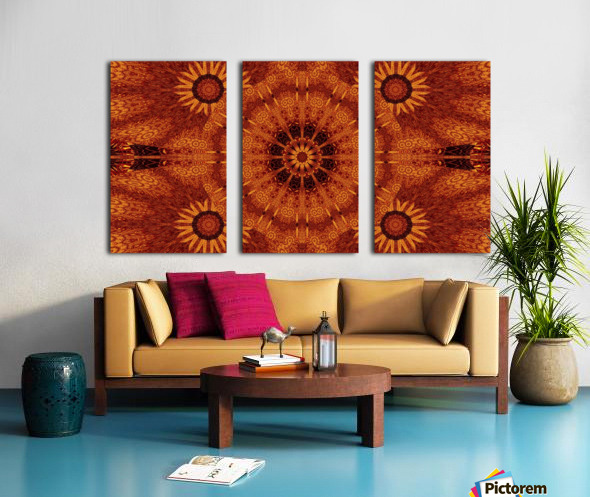 Black And Gold Wildflowers 3 Split Canvas print