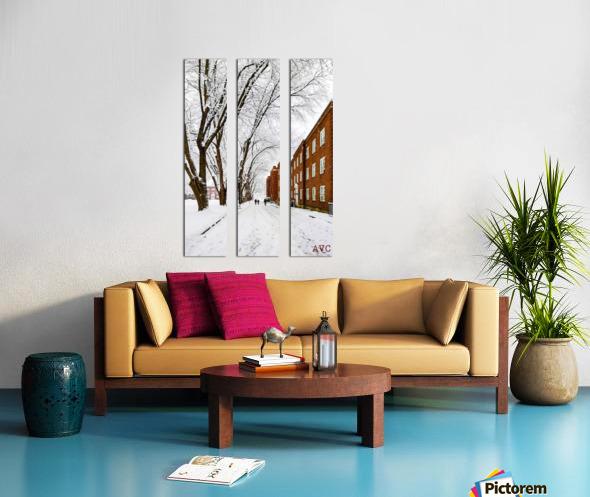 Walk on the UP Split Canvas print