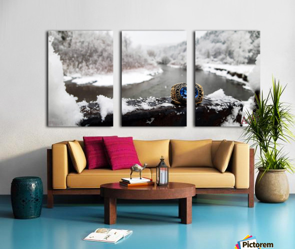 One for the Ring-- Winter Split Canvas print