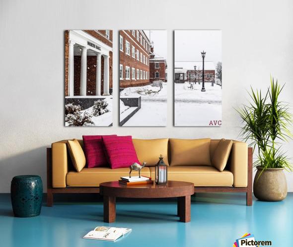 North Hall- Winter Split Canvas print