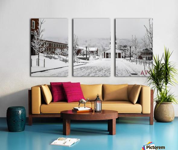 White Chapel-- Winter Split Canvas print