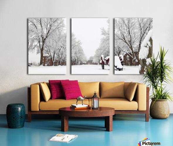 Parade Ground-- Winter Split Canvas print