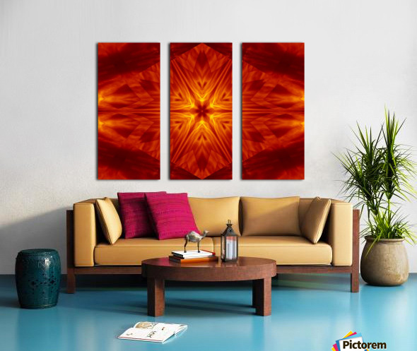 Fire Flowers 1 Split Canvas print