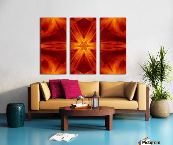 Fire Flowers 2 Split Canvas print