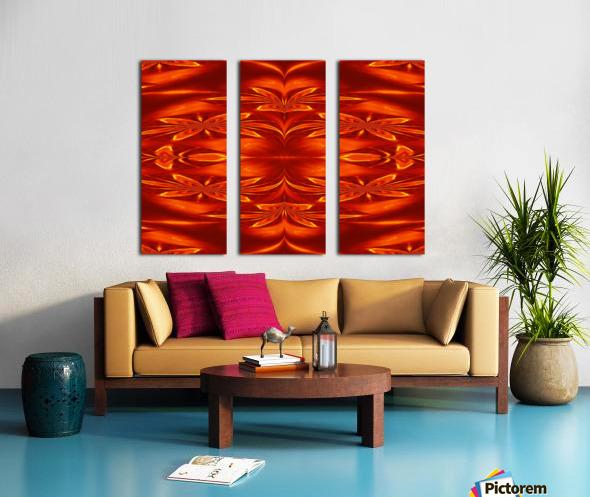 Fire Flowers 21 Split Canvas print